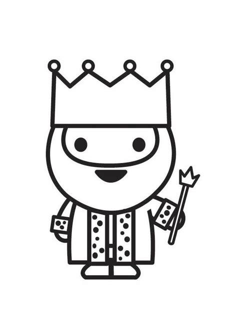 Dibujo para colorear rey   Img 27235