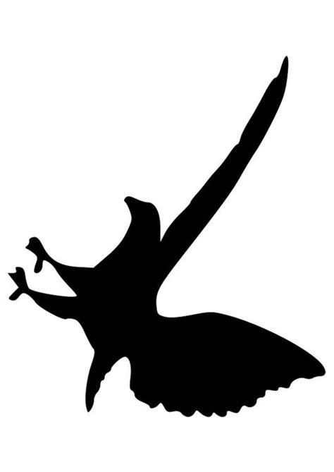 Dibujo para colorear silueta de águila - Img 27524