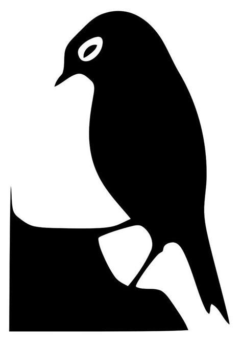 Dibujo para colorear silueta de pájaro - Img 20715
