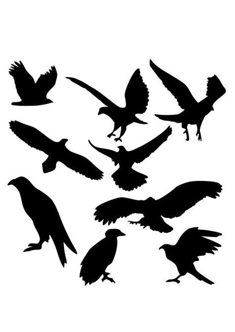 Dibujo para colorear siluetas de águilas - Img 26295