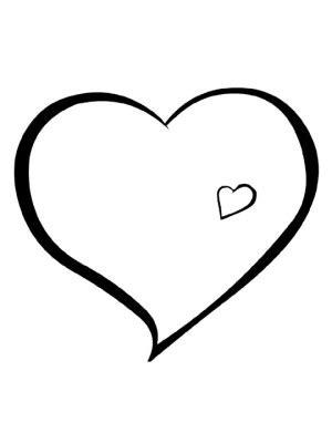 dibujo para imprimir de corazon