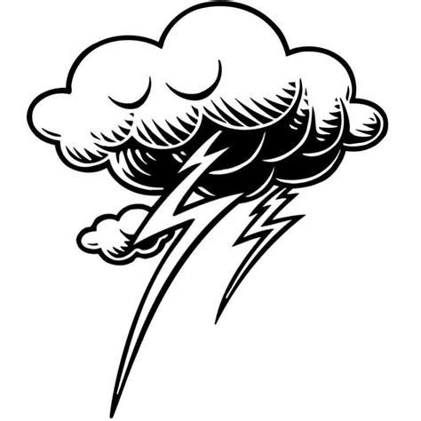 Dibujo Para Pintar De Nube Con Rayos Dibujos Para ...