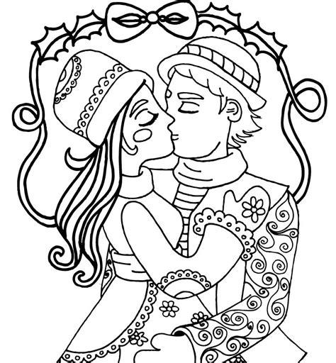 Dibujo para Pintar en Linea de Princesa muy Bonitos