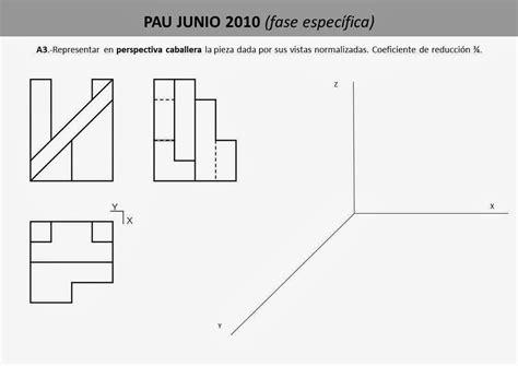 Dibujo Técnico 1º Bach.: PERSPECTIVA CABALLERA (Proyección ...