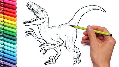 Dibujo y colorear Velociraptor Jurassic World ...