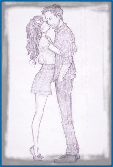Dibujos a lapiz de enamorados   Imagui