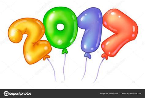 Dibujos animados colorido manojo de globos de cumpleaños ...