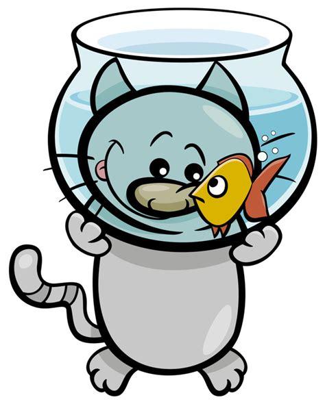 Dibujos animados de gato y pescado | Descargar Vectores ...