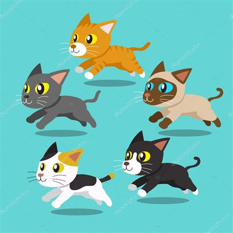 Dibujos animados de gatos corriendo — Vector de stock ...