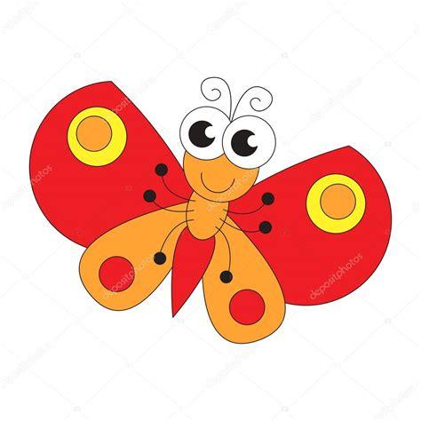 Dibujos animados de mariposa divertida. Página para ...