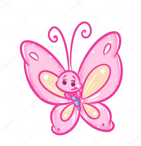 Dibujos animados de mariposa rosa — Foto de stock ...
