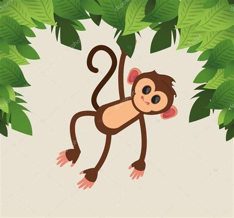 dibujos animados de monos selva — Archivo Imágenes ...