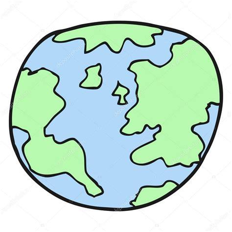 dibujos animados de planeta tierra — Archivo Imágenes ...