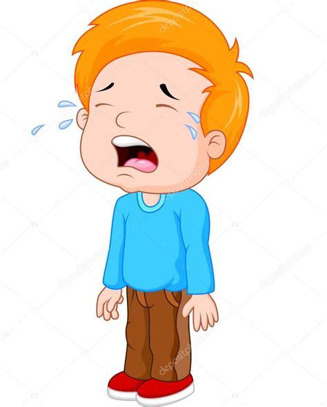 Dibujos animados de un niño llorando — Archivo Imágenes ...