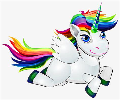 Dibujos Animados De Unicornio Blanco, Pintado A Mano De ...