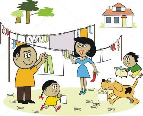 Dibujos animados de vector de familia afroamericana ...
