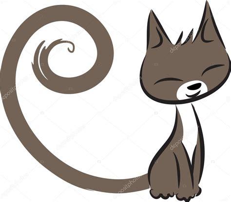 Dibujos animados dibujo gato feliz — Fotos de Stock ...