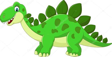 Dibujos animados Estegosaurio dinosaurio — Archivo ...