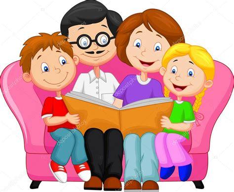 dibujos animados familia feliz — Archivo Imágenes ...