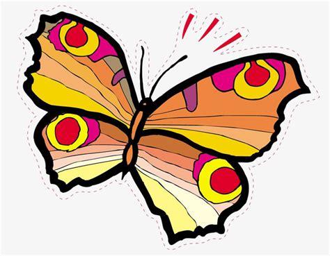 Dibujos animados mariposas pintadas a mano, Mariposa ...