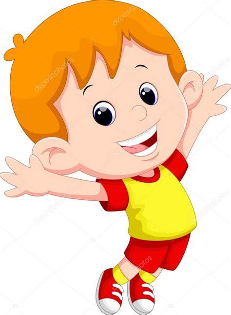 Dibujos animados niño feliz — Archivo Imágenes Vectoriales ...