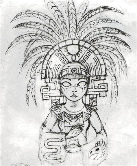 dibujos aztecas coloring pages