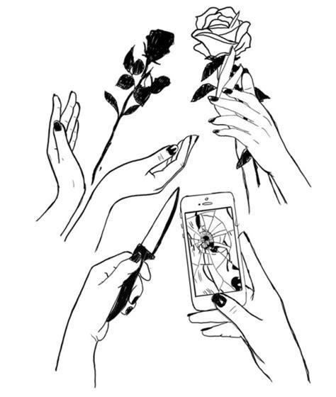 dibujos blanco y negro   Tumblr