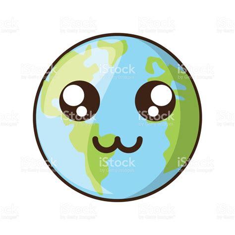 Dibujos De Animados De Planeta Tierra - Arte vectorial de ...