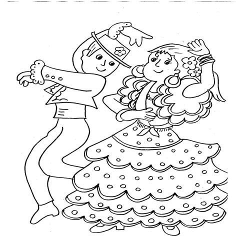 Dibujos De Baile Flamenco Para Colorear E Imprimir