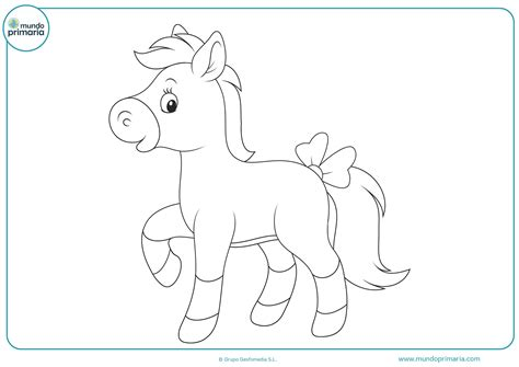 Dibujos de caballos para imprimir y colorear - Mundo Primaria