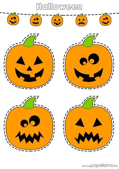 Dibujos de calabazas de Halloween para recortar   PAPELISIMO