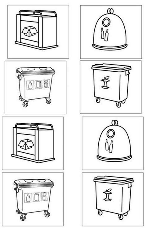 Dibujos de contenedores de reciclaje para colorear ...