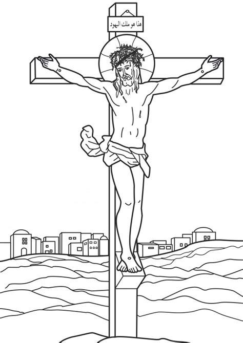 Dibujos de Cristo crucificado para descargar y pintar ...