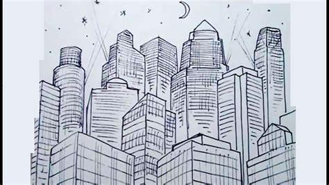 Dibujos de figuras en perspectiva 4/4   Edificios en una ...