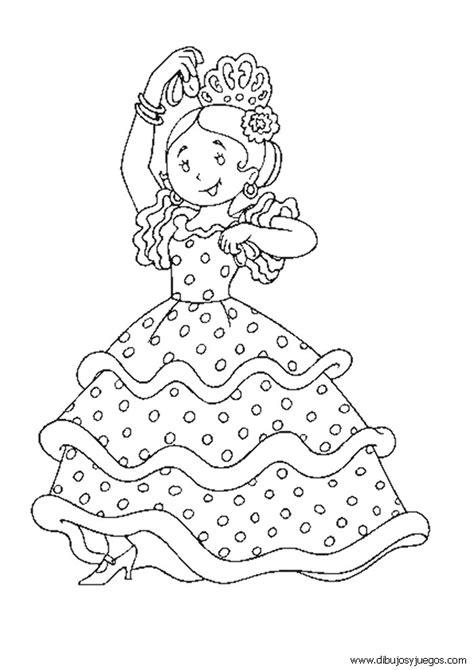 Dibujos de flamencas para colorear - Imagui