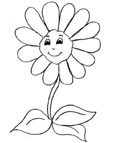 Dibujos de flores animadas para colorear