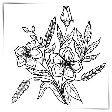 Dibujos de flores para colorear a4 ???? Biblioteca de ...