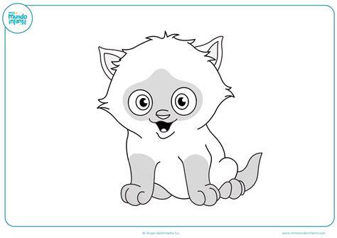 Dibujos de gatos para imprimir y colorear - Mundo Primaria