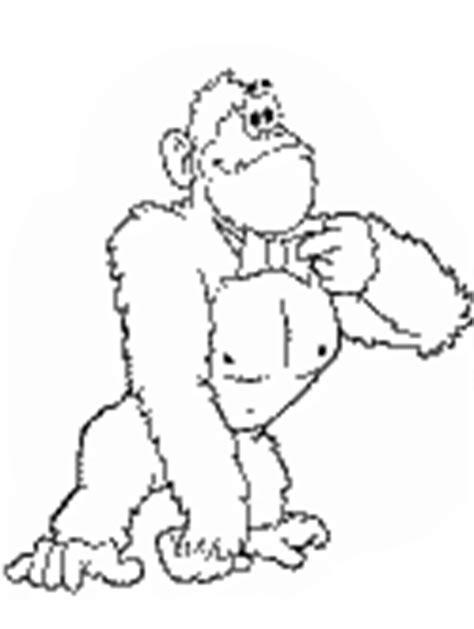 Dibujos de gorilas para colorear