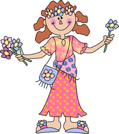 Dibujos de hippie mujer