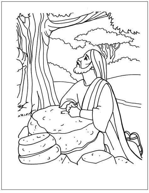 dibujos de Jesús Orando en el Huerto para Colorear ...