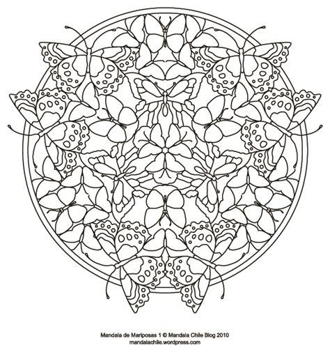 Dibujos de mandalas de mariposas para pintar | Colorear ...