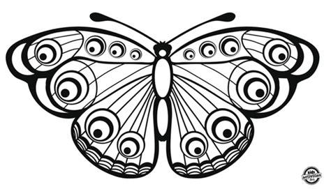 Dibujos de mariposas descargables para colorear | Blog F ...