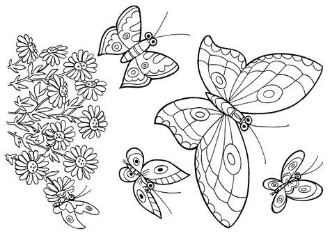 Dibujos de mariposas para colorear e imprimir  2