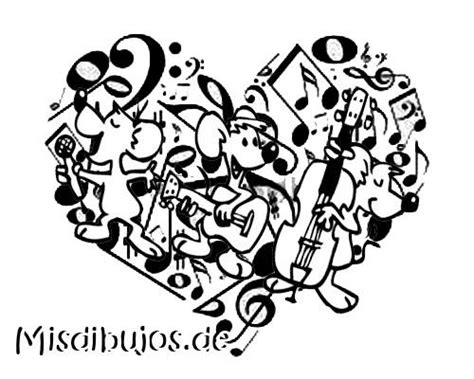 Dibujos de notas musicales | Dibujos