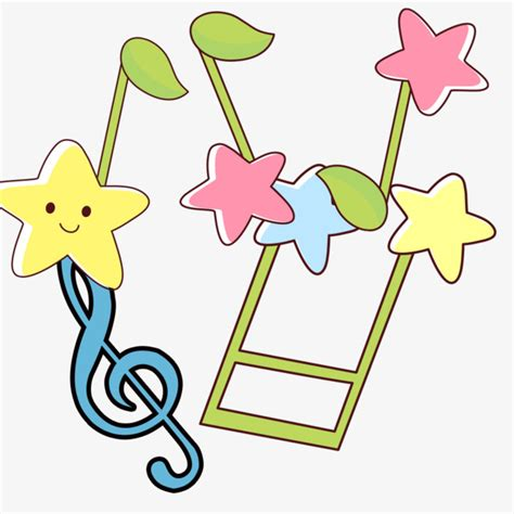 Dibujos De Notas Musicales Star, Patron Decorativo ...