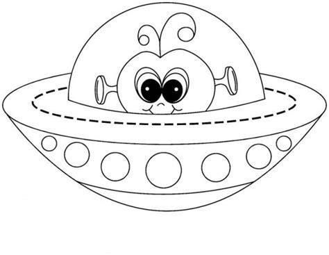 Dibujos de OVNIs para colorear, pintar e imprimir gratis