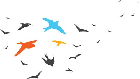 Dibujos de pajaros volando - Imagui