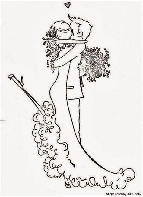 Dibujos de Parejas de Novios para usar como Plantillas ...