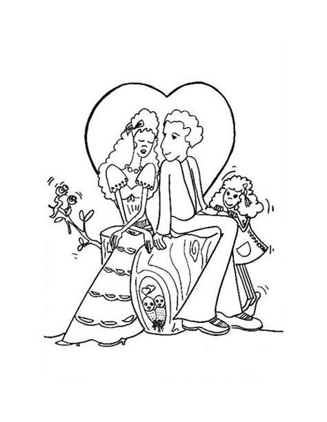 Dibujos de parejas enamoradas para pintar | Colorear imágenes